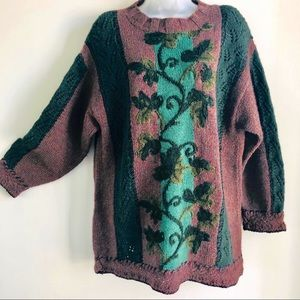 EXPRESS Tricot Handknitted Wool Sweater Medium